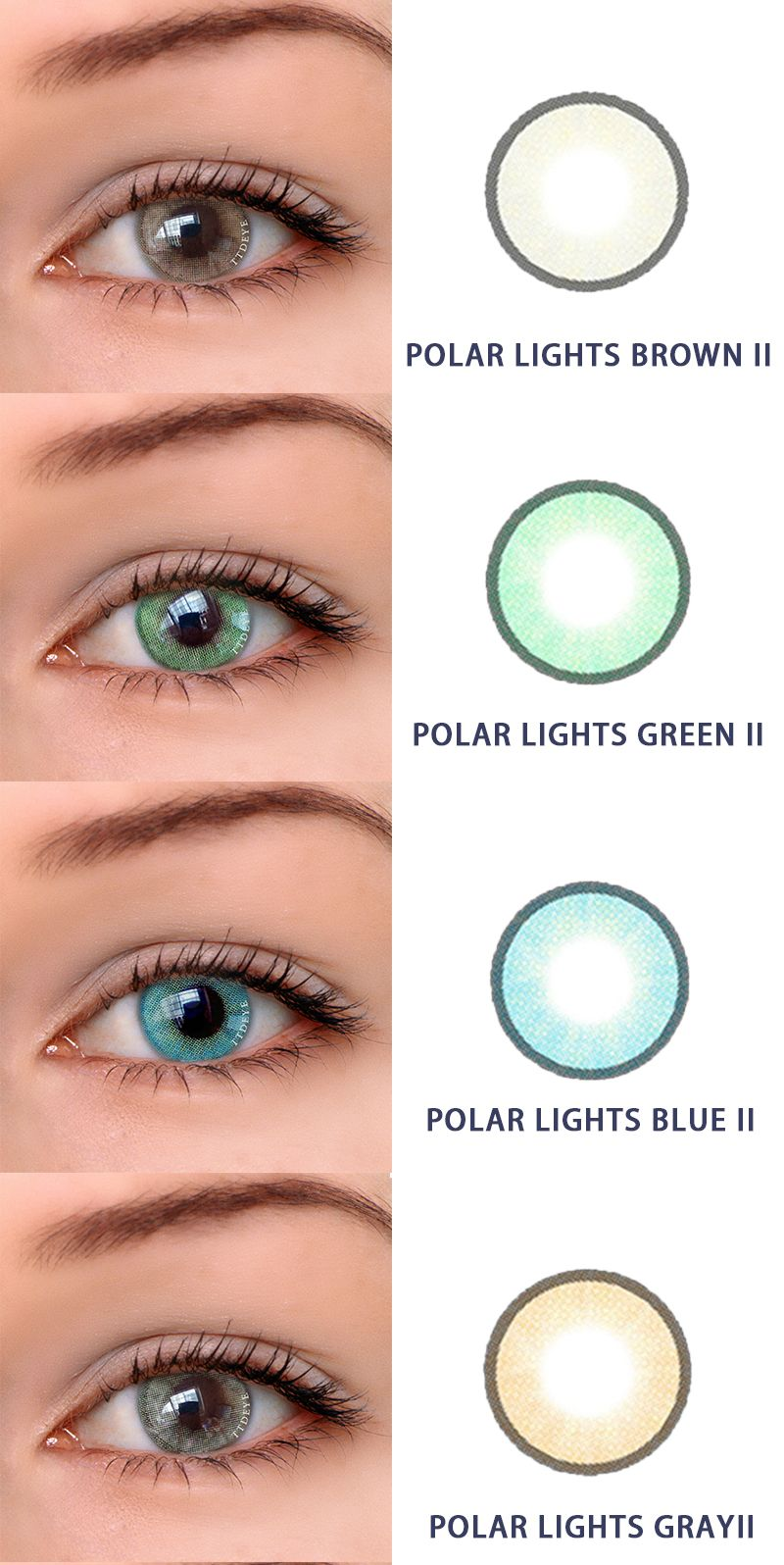 a76f95216 ttdeye.com ,the online shop contact colored lenses.Polar lights II . It has  brown ,green ,blue and gray