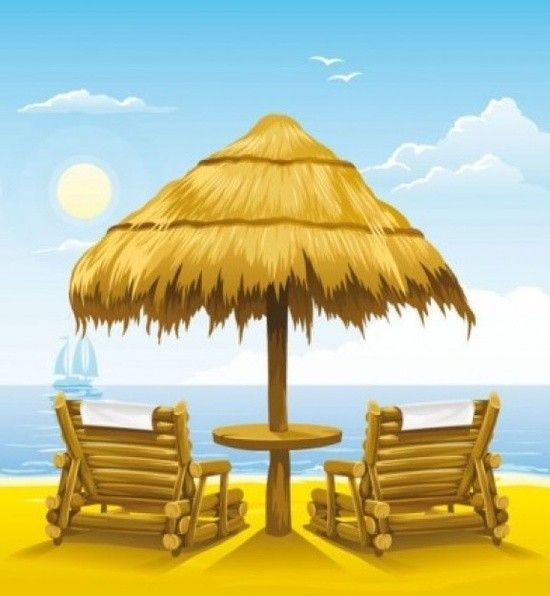 Cartes Ete Beach Clipart Clip Art Beach Lounge Chair
