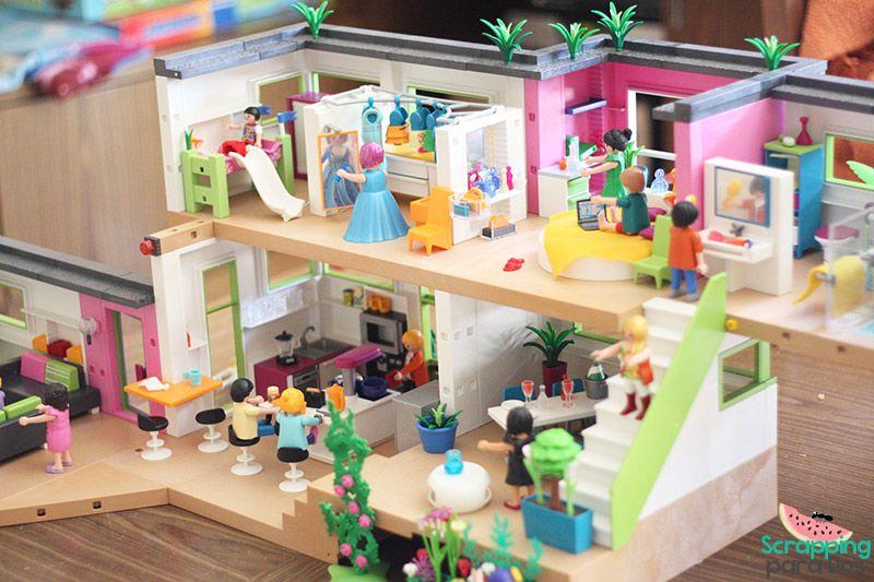 Casa moderna playmobil mansion figuras pinterest for La casa moderna