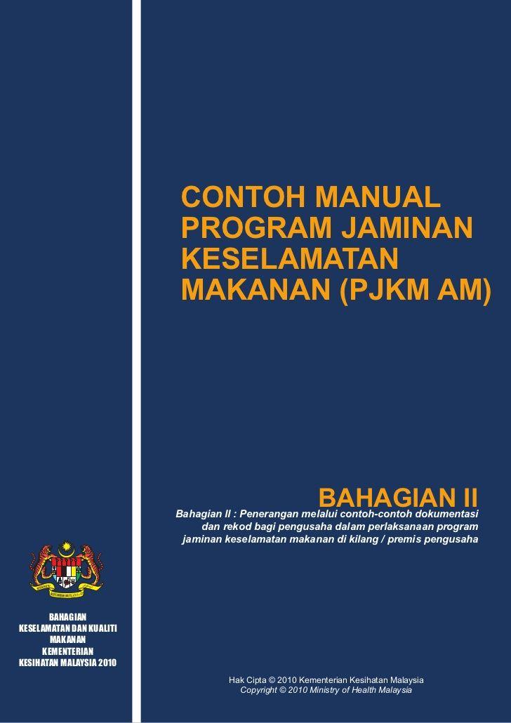 Contoh Manual Program Jaminan Keselamatan Makanan Pjkm Am Kandungan Manual Projects To Try Powerpoint