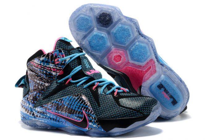 "on sale 8879b aee09 Men's Nike LeBron 12 ""BHM"" Black/White-Metallic Silver   Nike LeBron ..."