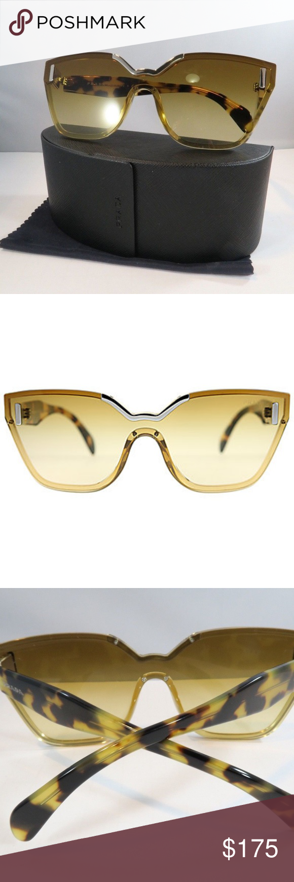 0ad66cb17cd They retail for  470.00 Style  0PR 16TS PRODUCT DETAILS  · Frame shape   shield · Frame color  beige · Lens color  light yellow ...
