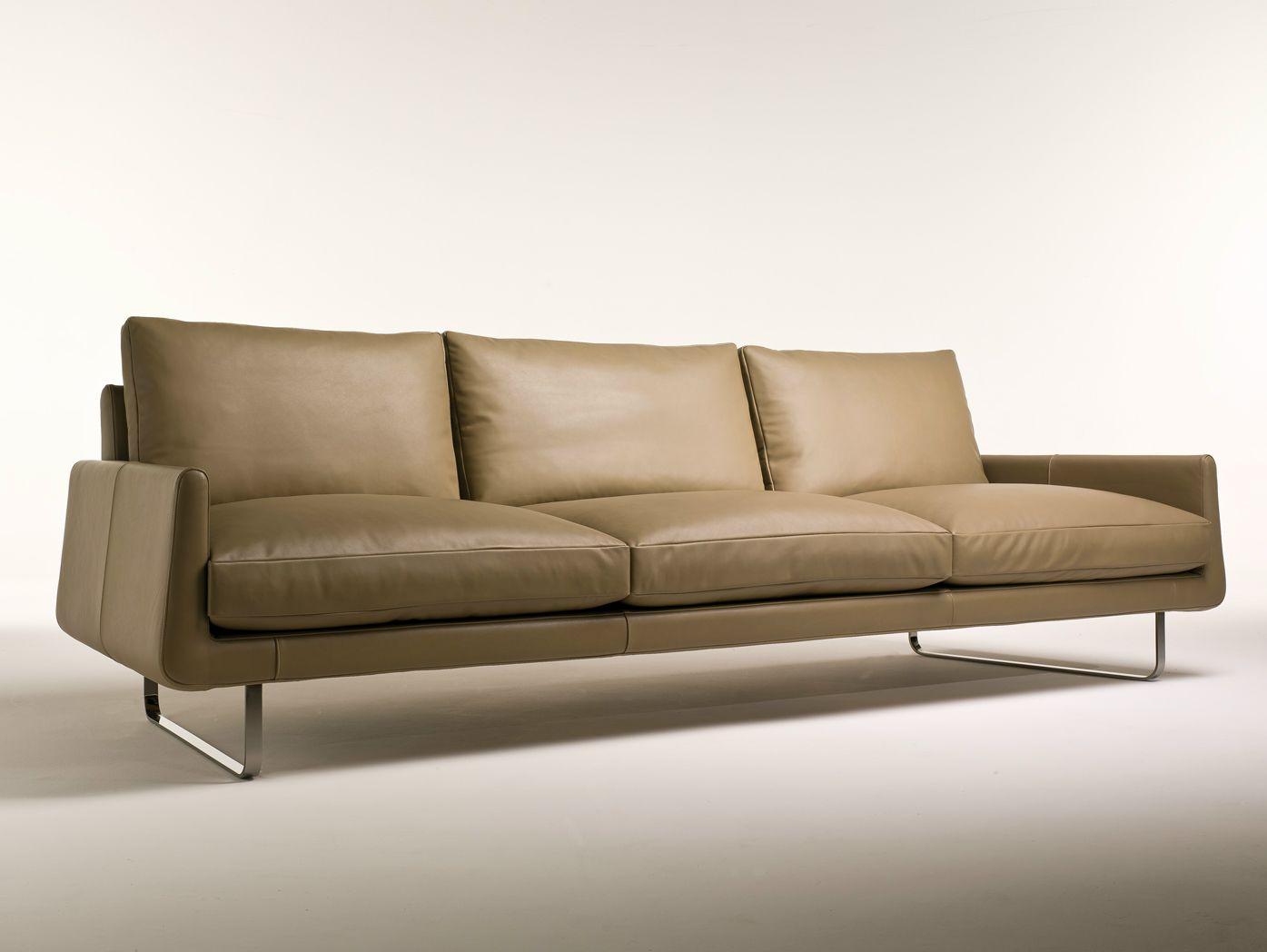 3 Seater Leather Sofa Joshua Collection By I 4 Mariani Design Umberto Asnago Sofa Leather Sofa Living Room Sofa Design