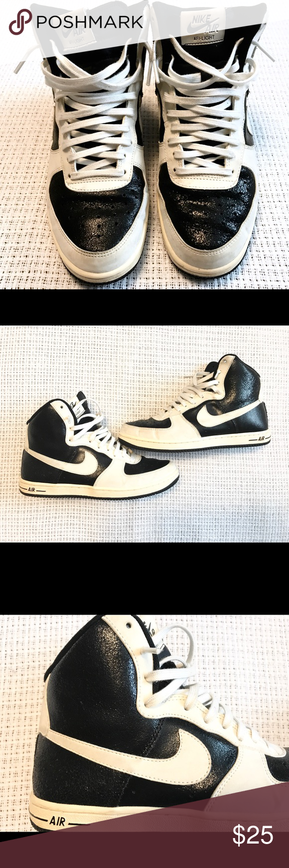 frio Cumplir testimonio  Nike Air Sneakers Nike Air AFI Light sneakers 👟 Size 7 ✨Textured Black and  Off White/Cream color. Excellent used condition/ supe… | Sneakers, Nike air,  Black nikes