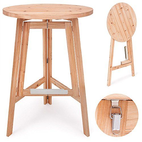 stehtisch bistrotisch bartisch holzstehtisch garten klapptisch klappbar party holz massiv 78 cm. Black Bedroom Furniture Sets. Home Design Ideas