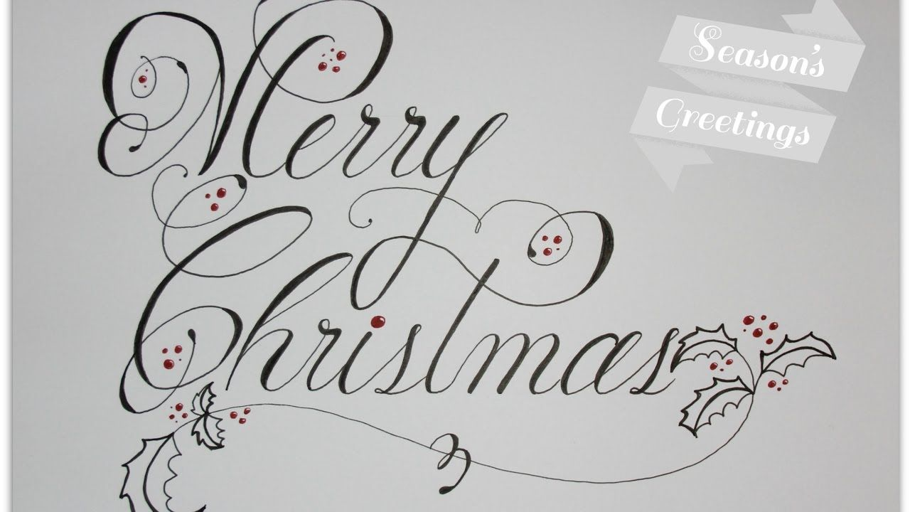 Merry Christmas In Cursive.How To Write Merry Christmas In Cursive And Fancy Cards