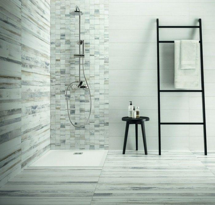 Fliesen in Holzoptik - Badezimmer wohnlich gestalten Bad Pinterest