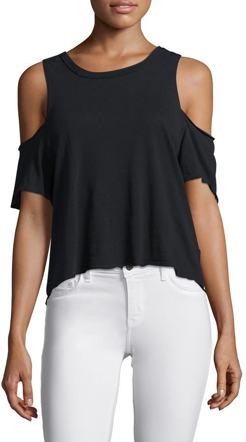 Free People Women's Taurus Cold Shoulder Tee | Products | Free