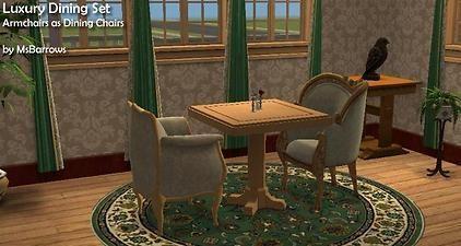 Mod The Sims - Luxury Dining Set
