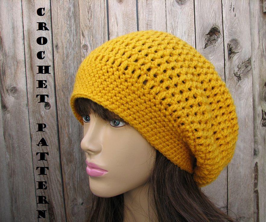 Crochet pattern crochet hat slouchy hat crochet pattern pdf crochet hat slouchy hat crochet pattern pdfeasy dt1010fo