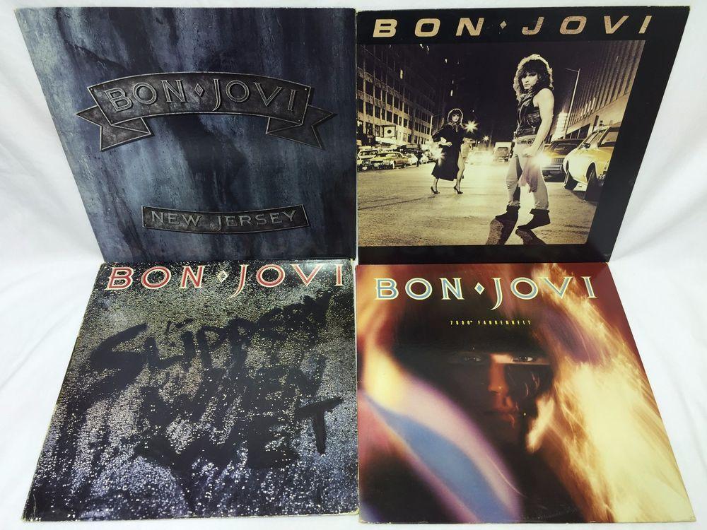 Bon Jovi Lp Vinyl Record Lot 7800 Fahrenheit New Jersey S T Slippery When Wet Vinyl Records Pop Vinyl Bon Jovi