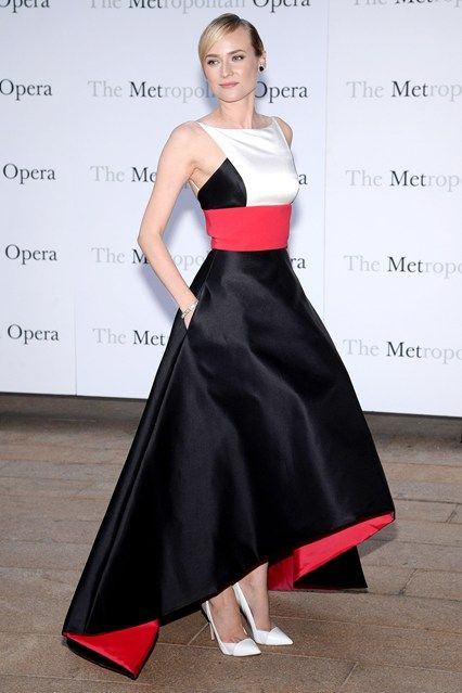 Metropolitan Opera Season Opening, New York – September 23 2013  Diane Kruger wore a Prabal Gurung gown with Casadei heels.
