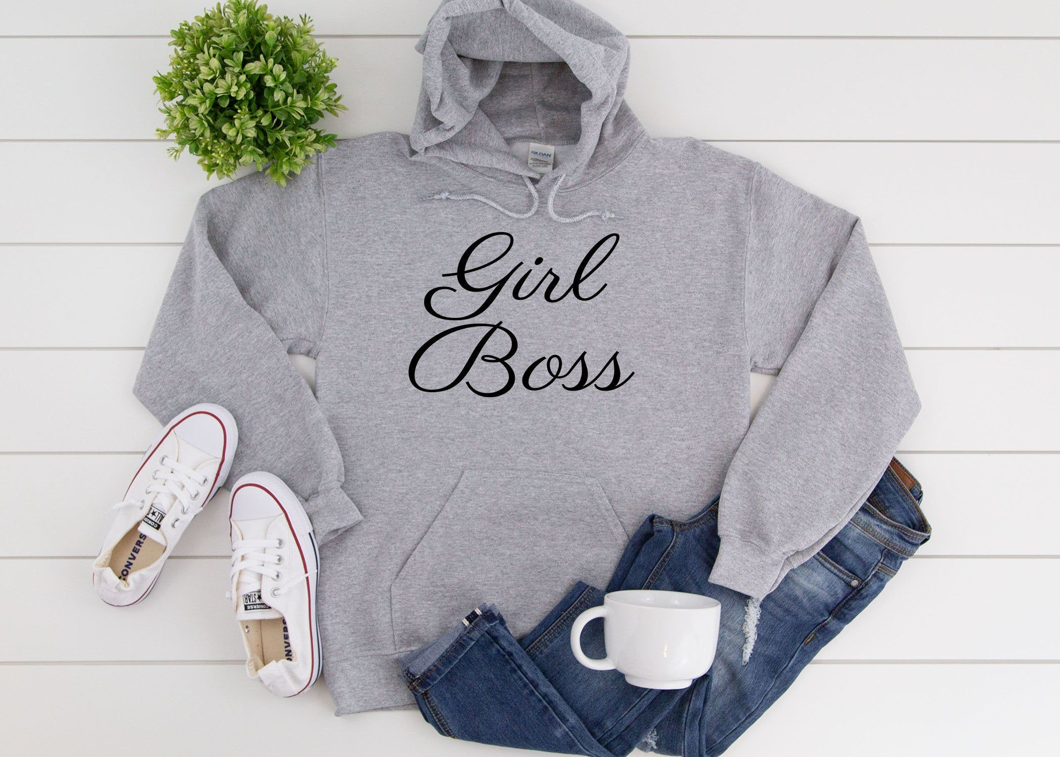 Womens Hoodie * Girl Boss Hoodie * Hoodies for Women *  Feminist * Inspirational Hoodie * Plus Size Clothing * Gifts for Her * 14