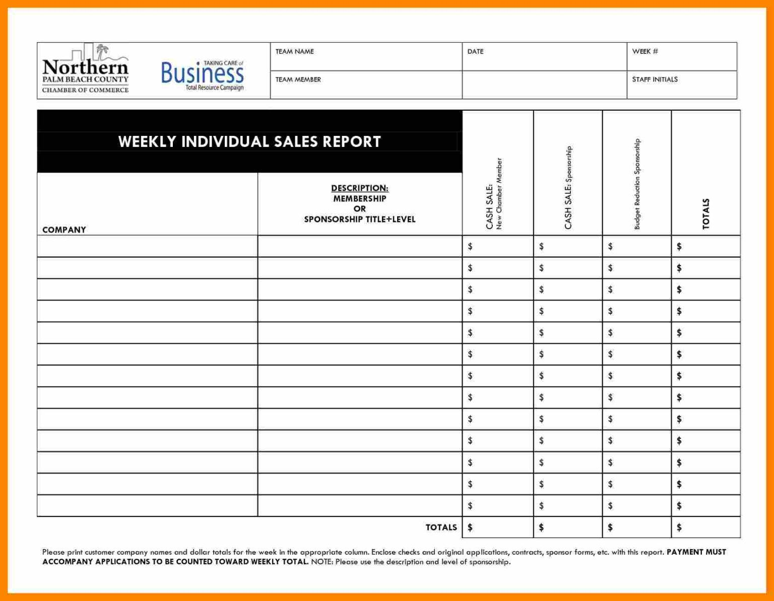 015 Template Ideas Weekly Sales Reports Templates Daily ...