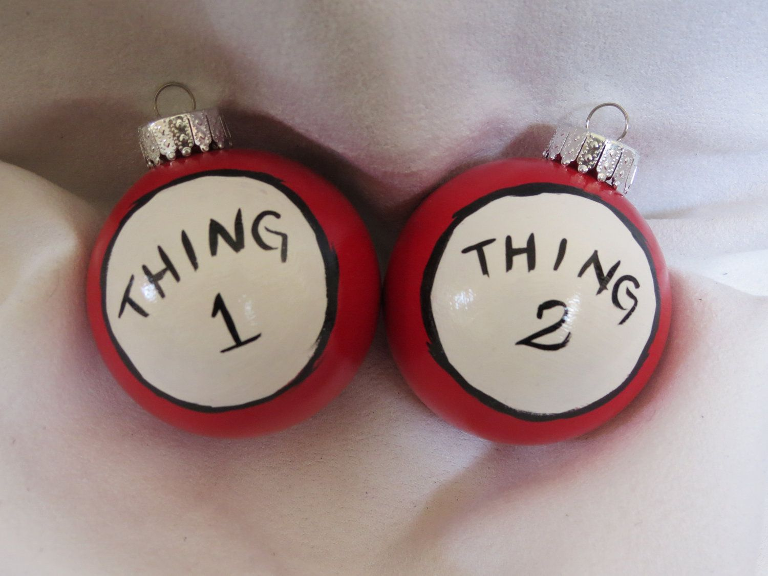 Cat in the hat ornaments - Dr Seuss Thing 1 And Thing 2 Ornaments Thing 1 And Thing 2 Cat In The Hat