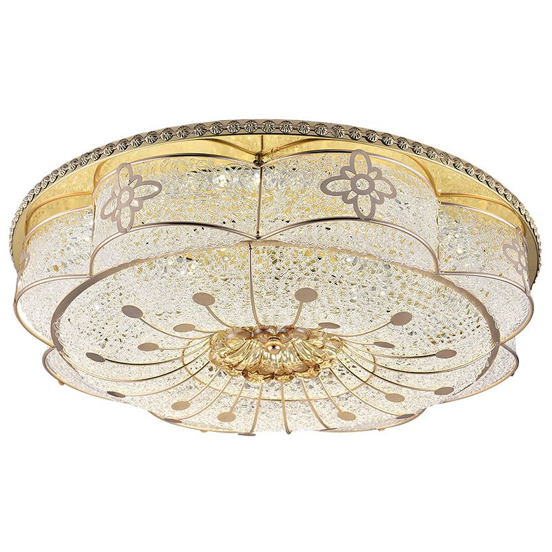 The New European Style Led Ceiling Lights Copper Three Color Bedroom Lights American Flower Style Ceiling Lamps Led Ceiling Lights Light Copper Ceiling Lights