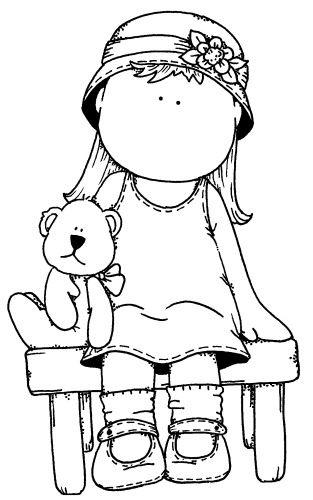 teddy/girl | fofuras | Pinterest | Dibujo, Colorear y Molde