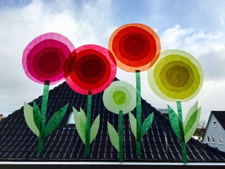 Transparentpapier Blumen – Basteln ideen