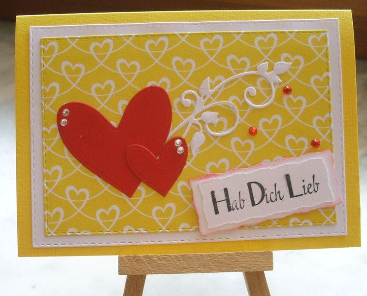 Liebe & Freundschaft - Grußkarte  Hab Dich lieb - ein