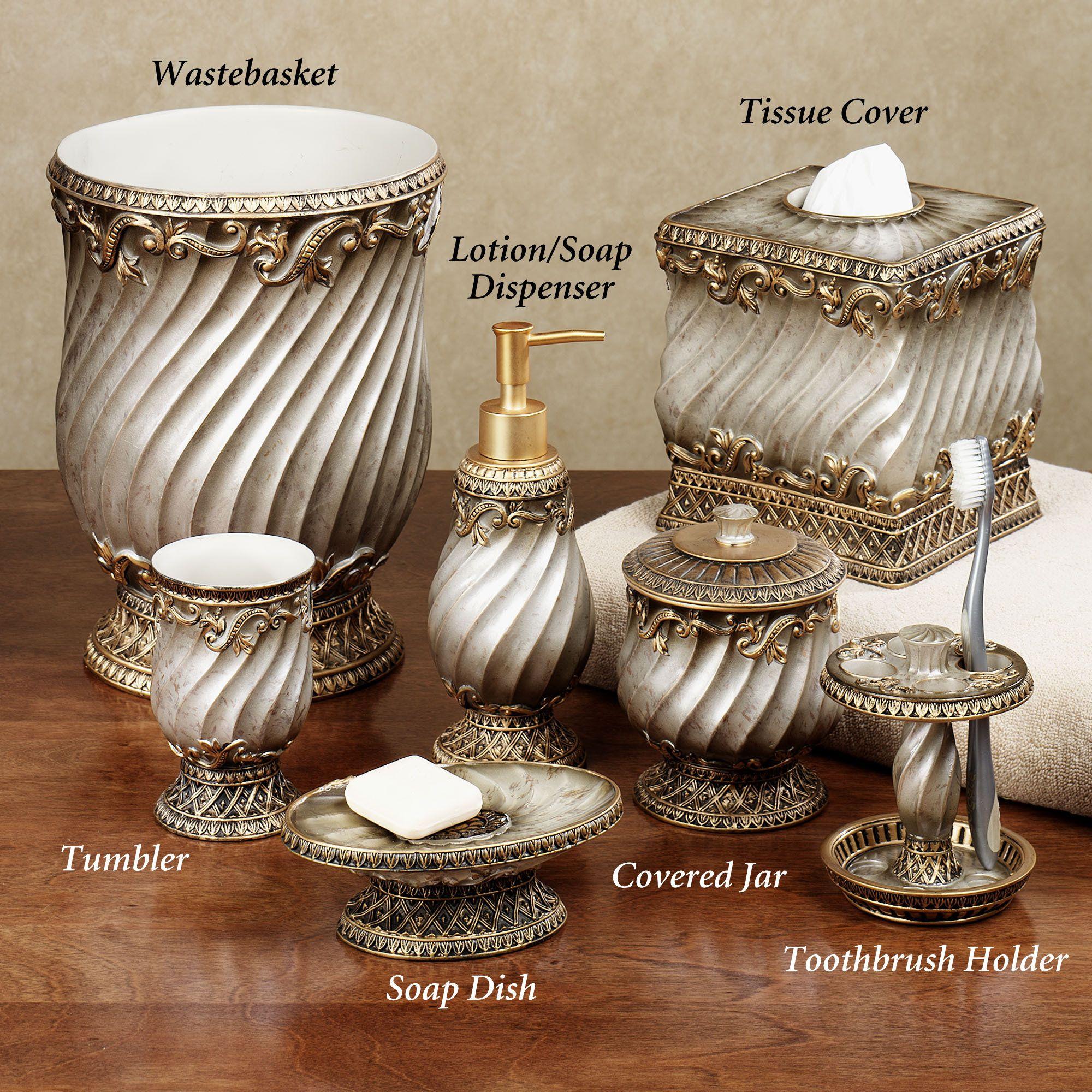 Monaco Lotion Soap Dispenser Antique Silver