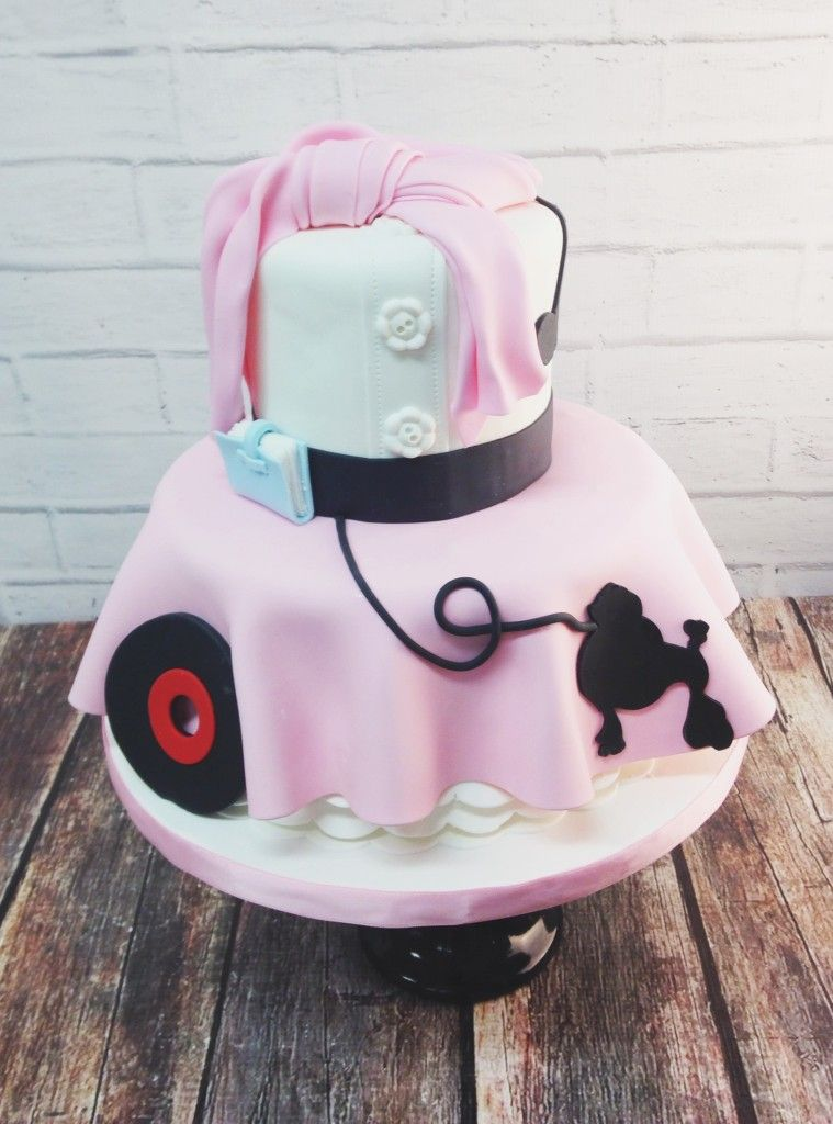 50s Theme Poodle Skirt Cake Cakes Novelty In 2019