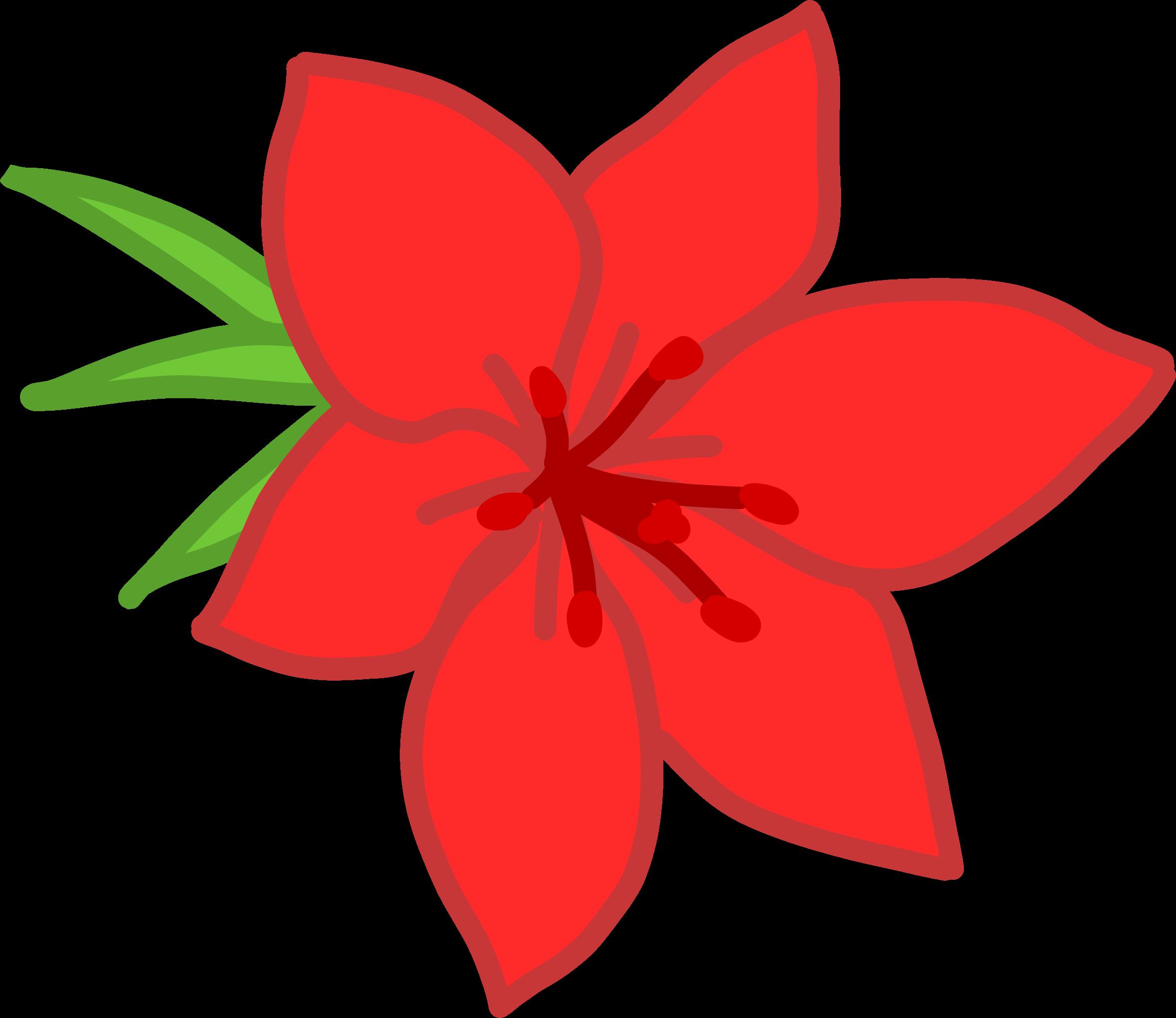 Red flower by @Kib, (fr) Une fleur rouge.(en) A red flower., on @openclipart