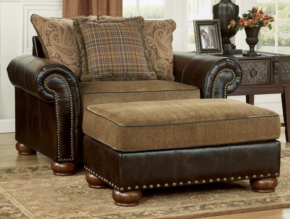 Briar Place Antique 2 Pc Living Room Set Chair And A Half Lazy Boy Chair Furniture