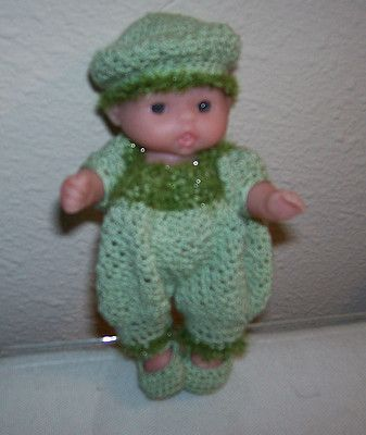 "5"" Itty Bitty Lots of Love Green Romper Set with Doll"