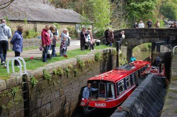 Hebden Bridge, Rochdale Canal on a one way boating holiday - BETWEEN SOWERBY BRIDGE AND ASHTON-UNDER-LYNE, VIA ROCHDALE