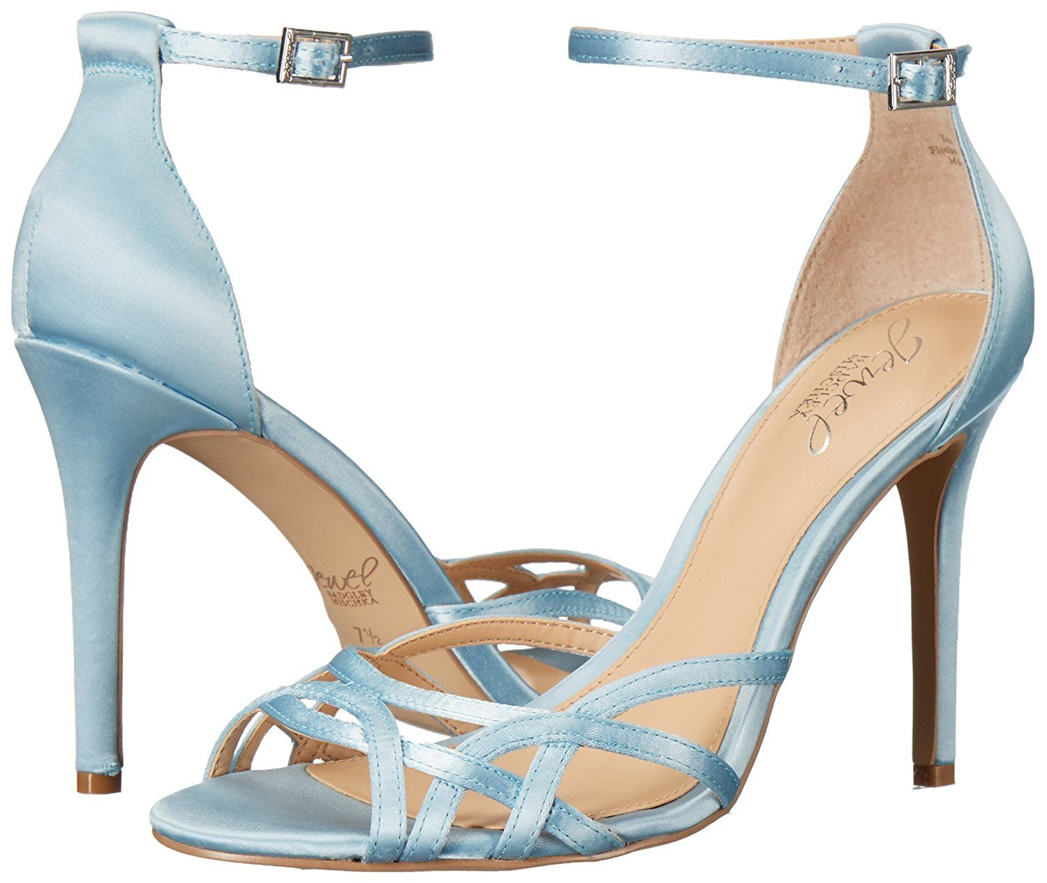 07d0820401181 Amazon.com: Jewel Badgley Mischka Women's Haskell Dress Sandal, Sky ...