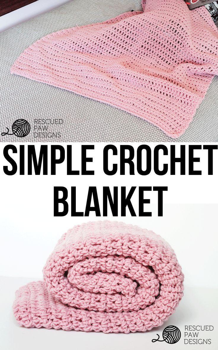 Simple Crochet Blanket Pattern From Rescued Paw Designs | Häckeln ...