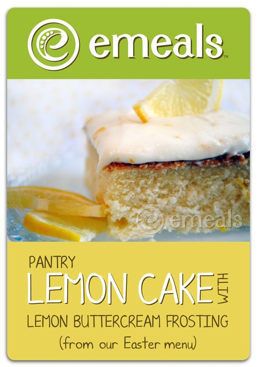 Lemon-cake with lemon buttercream frosting. Divine!