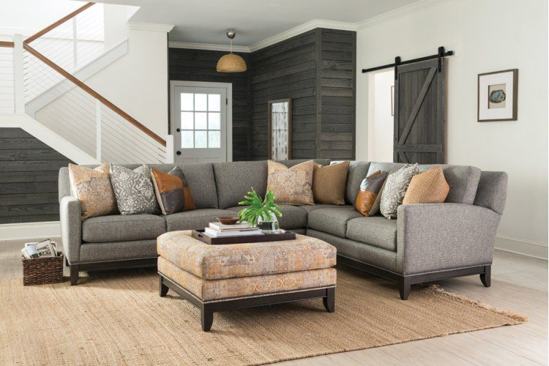 23814fabric In By Smith Brothers Furniture In Bowling Green Ky Laf Sofa Transitional Sectional Sofas Smith Brothers Furniture Furniture