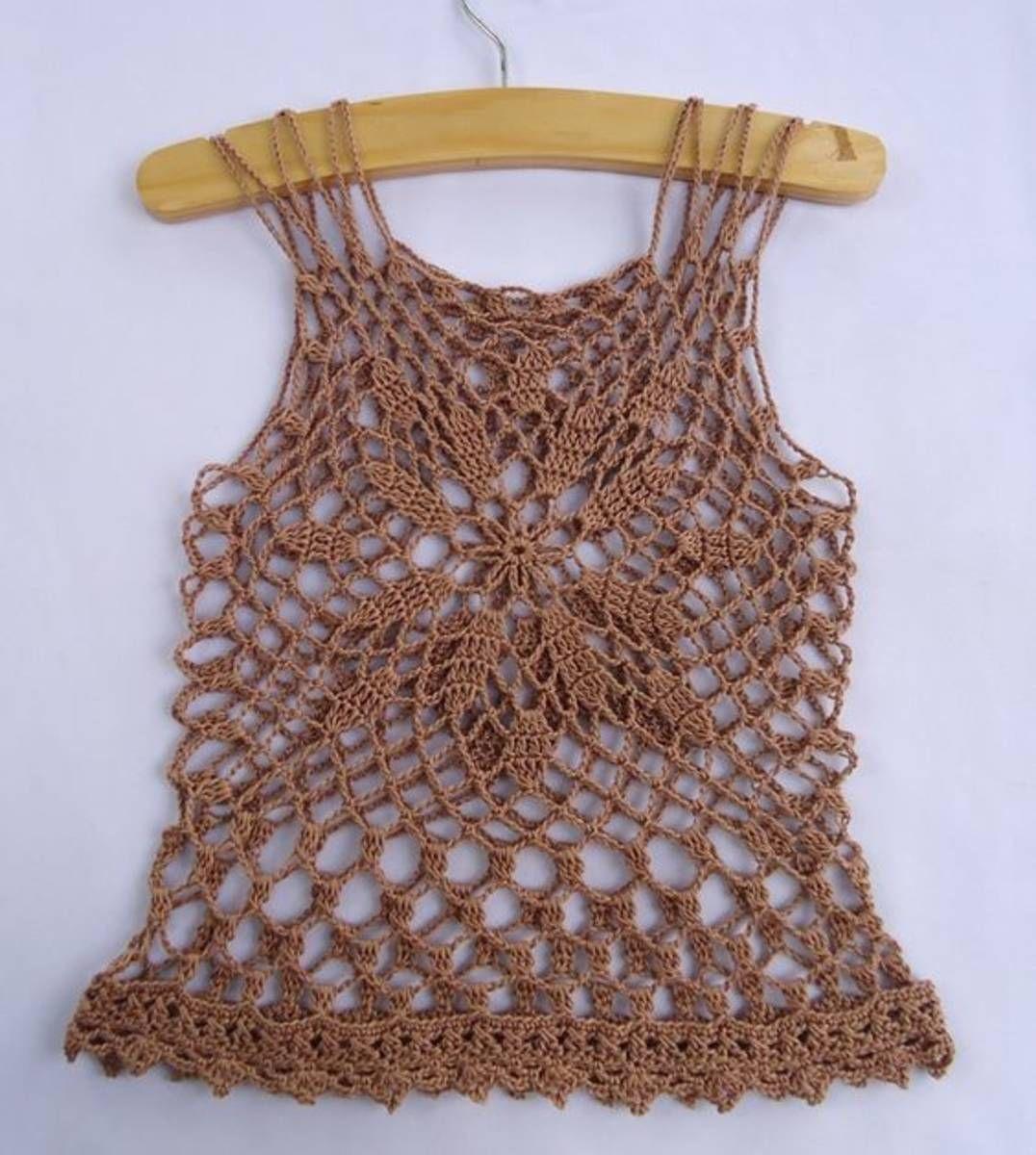 Camiseta em Croche | croche | Pinterest | Crochet, Crocheting ...