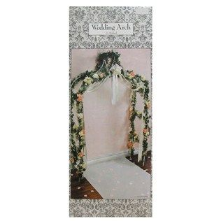Would Be A Cute Backdrop Behindthe Wedding Table Could Decorate Real White Decorative Arch Hobby Lobby