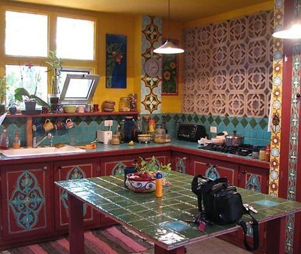 54 classy bohemian style kitchen design ideas with images bohemian style kitchen bohemian on kitchen decor hippie id=83310
