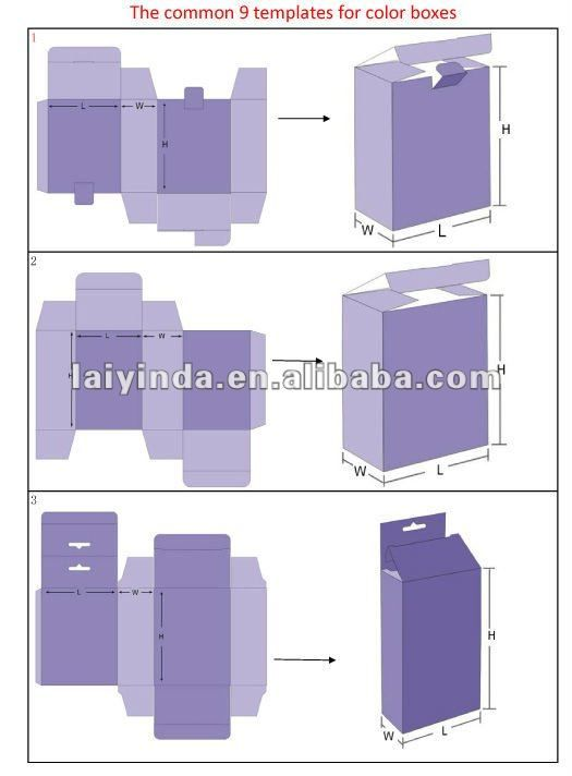 2012 factory wholesale packaging box design templates