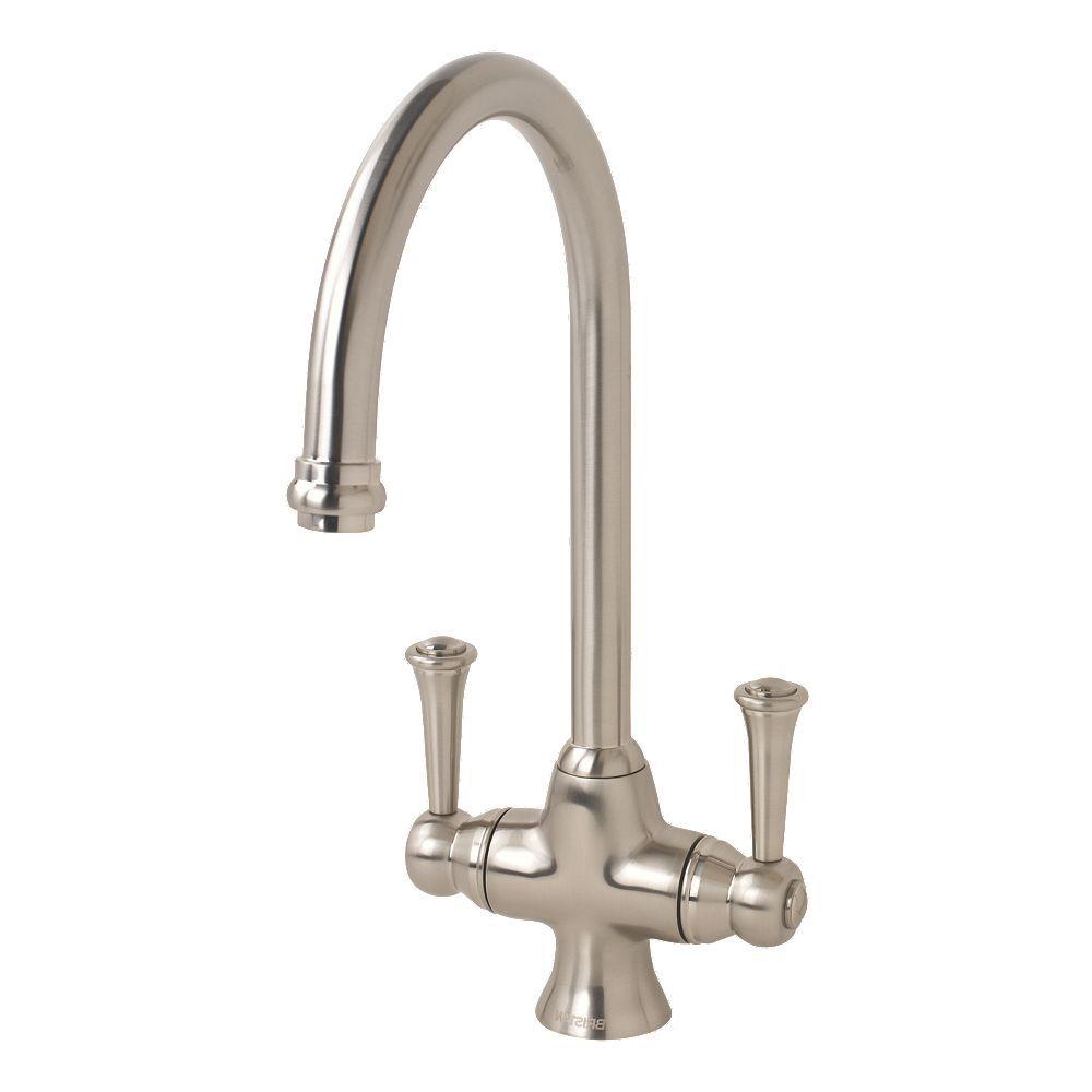 Bristan Sentinel Sink Mounted Mono Mixer Kitchen Tap Brushed Nickel ...