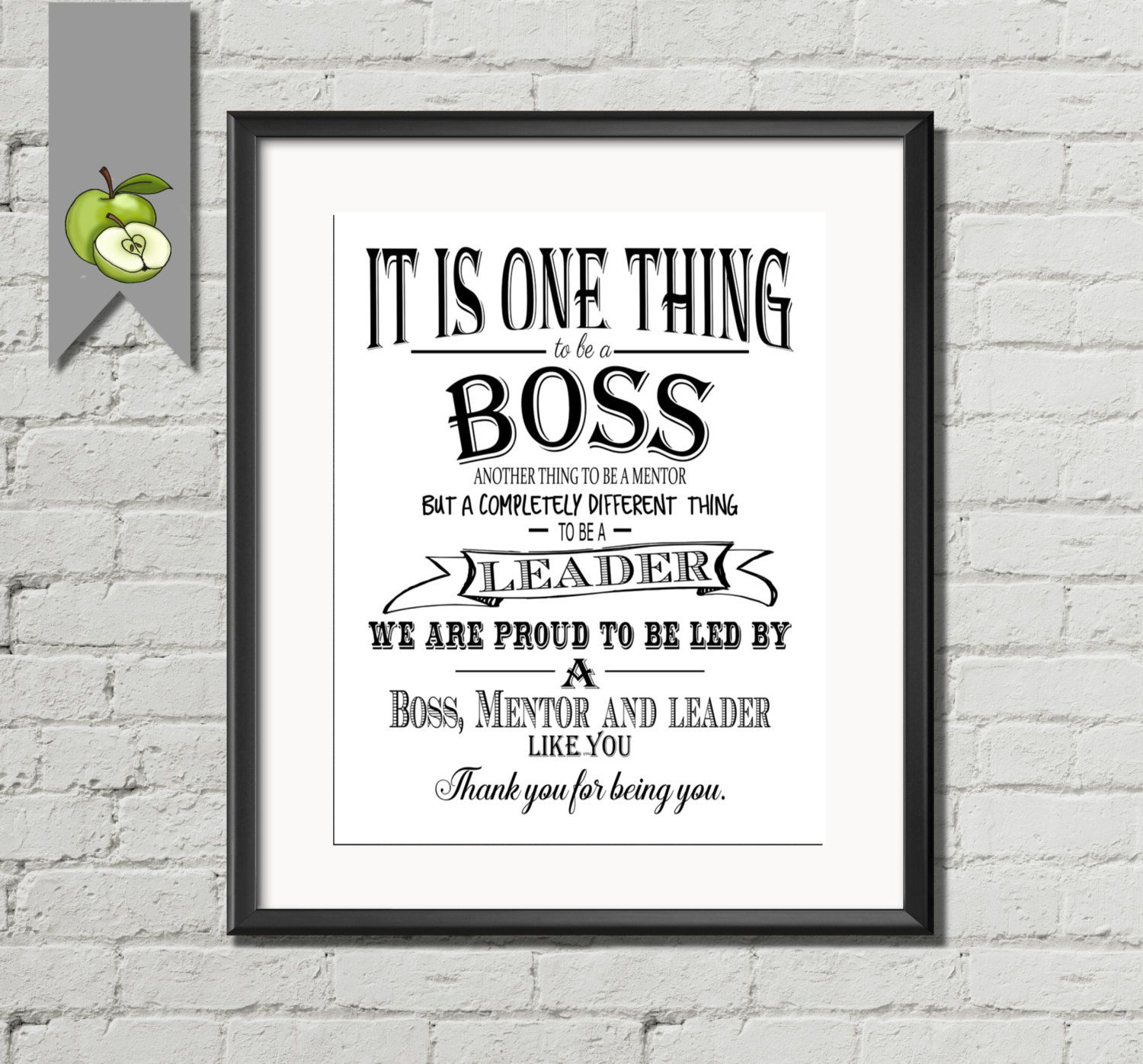 Boss Quotes: Boss Appreciation Day Or Week. Thank You Printable Gift