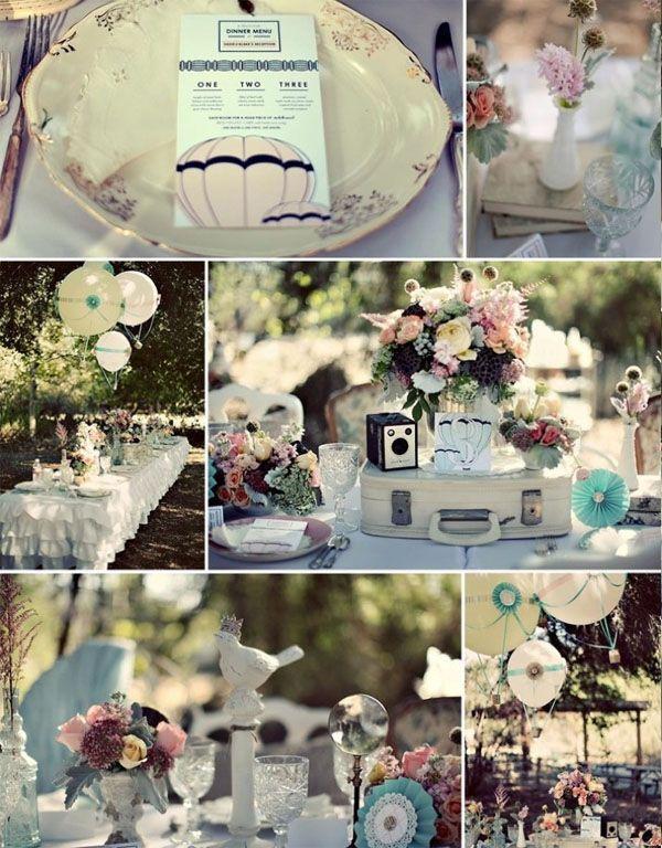 decoration mariage annee 70