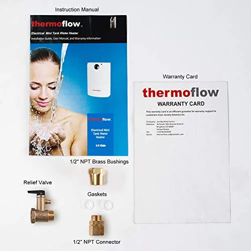 Thermoflow Ut10 2 6 Gallons Electric Mini Tank Water Heater Watersbe In 2020 Water Heater Heater Relief Valve