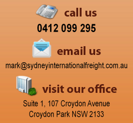Sydney Int'l Freight - asked to call me.
