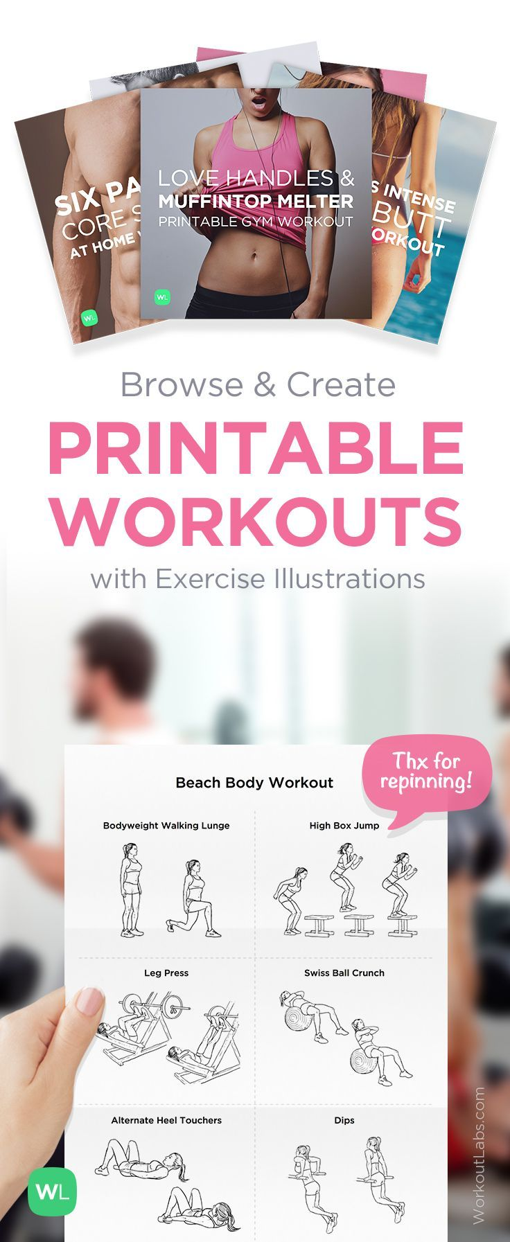 Free printable gym workout plans eoua