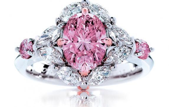 Calleija. My Fair Lady Rare. 1.55ct Fancy Intense Pink Natural Australian Argyle Pink Diamond Ring.