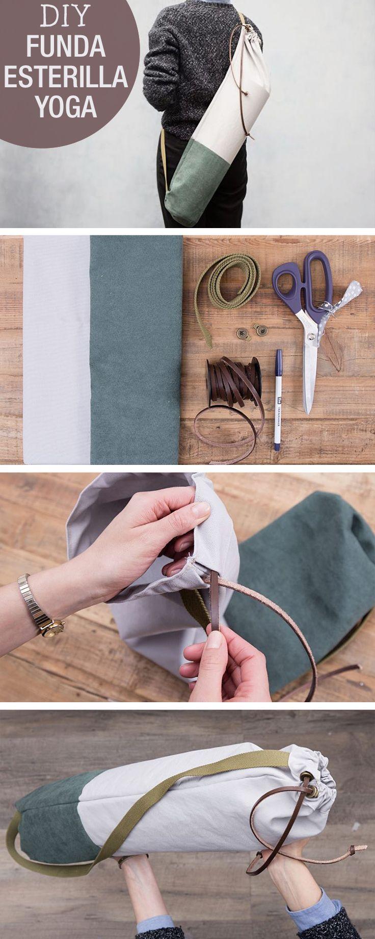 Tutorial DIY: Cómo hacer una bolsa para esterilla de yoga en DaWanda ...