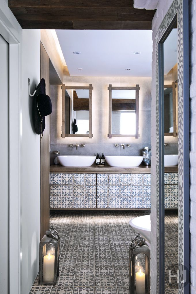 The bathroom's gorgeous tiles are from Fired Earth. Home Journal, April 2015