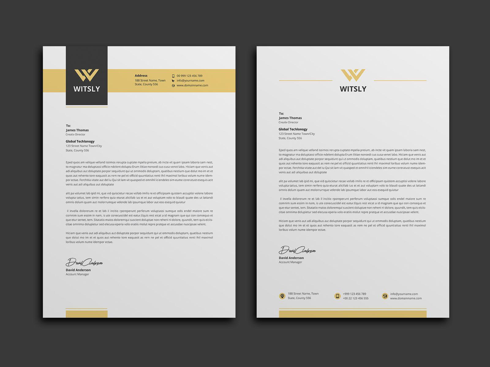 Diamond Professional Corporate Letterhead Template Professional