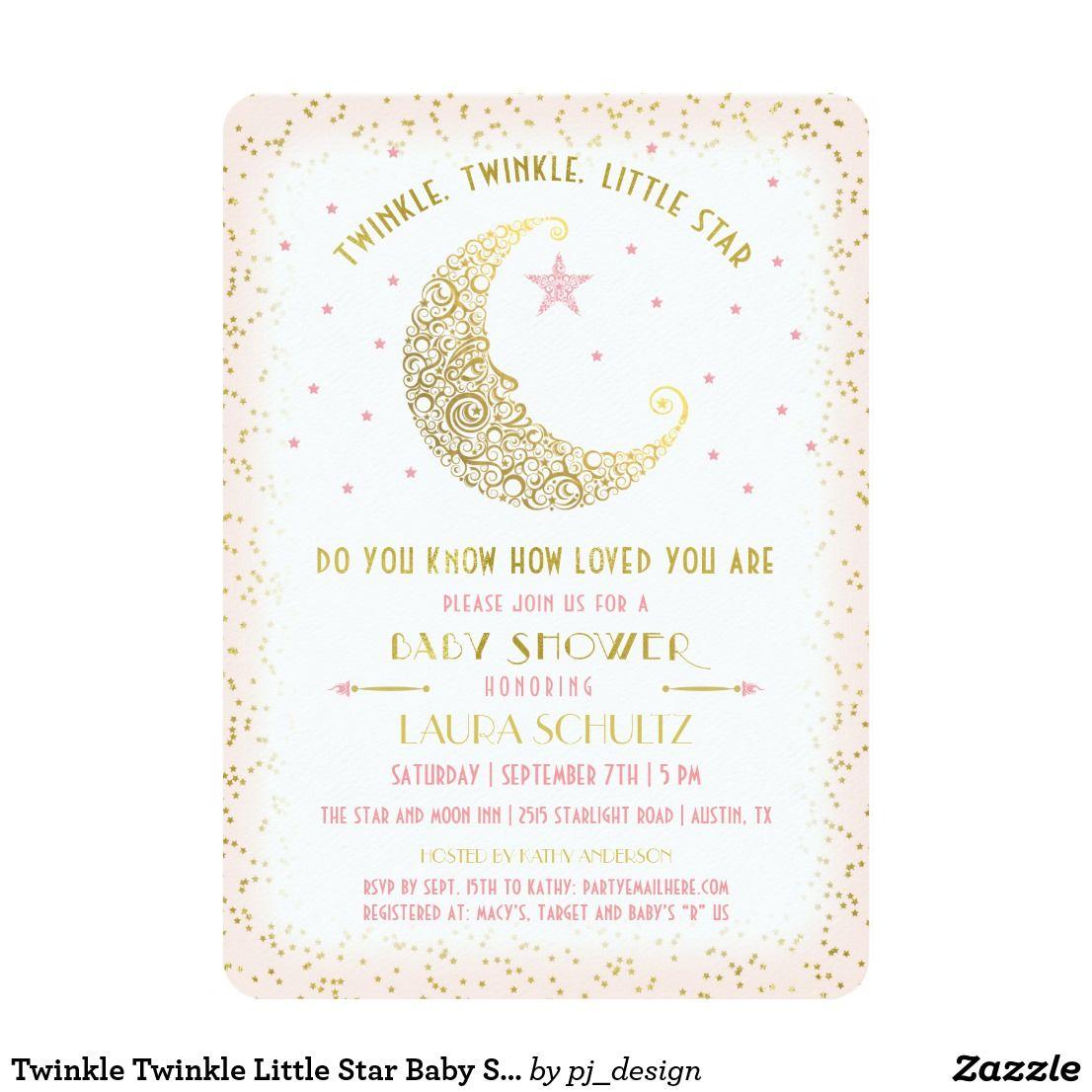 Twinkle Twinkle Little Star Baby Shower Invitation | Twinkle Twinkle ...