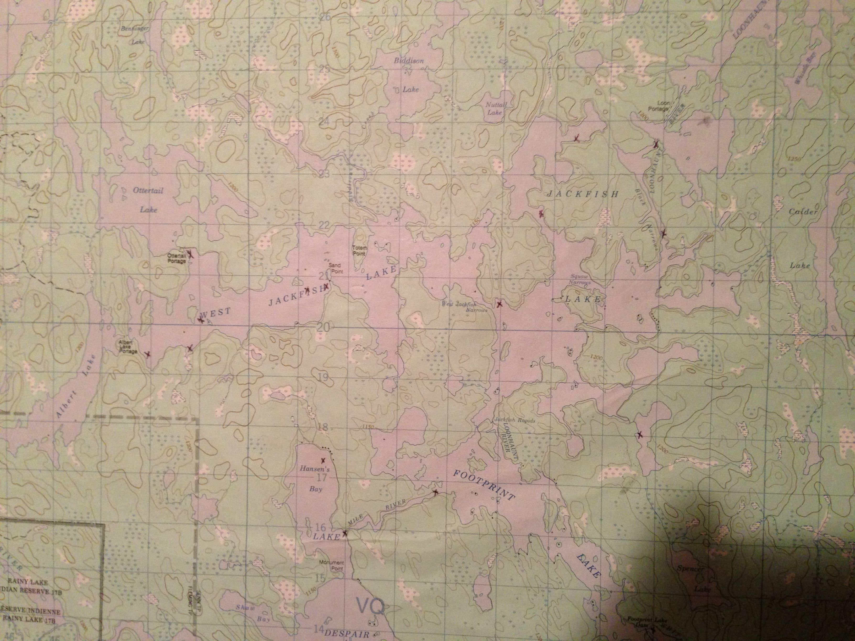 Canadian Map Before Confederation%0A The old map on the wall in the cabin