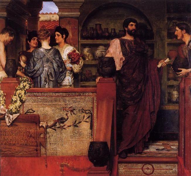 Hadrian Visiting a Romano British Pottery - Alma-Tadema Lawrence